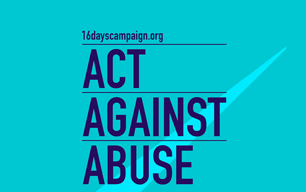 16 days campaign - act against abuse banner